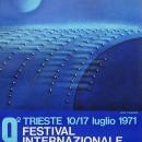 manifesto 9° festilval internazionale del film di fantascienza – 67×98 – 10 17 luglio 1971